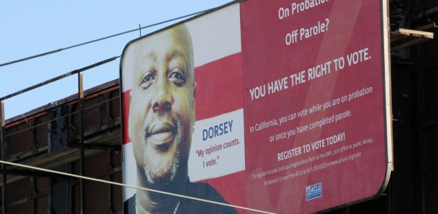 Voting rights billboard Bayview 2008 Dorsey
