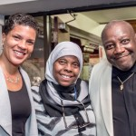 Michelle Alexander with Hamdiya and Dorsey