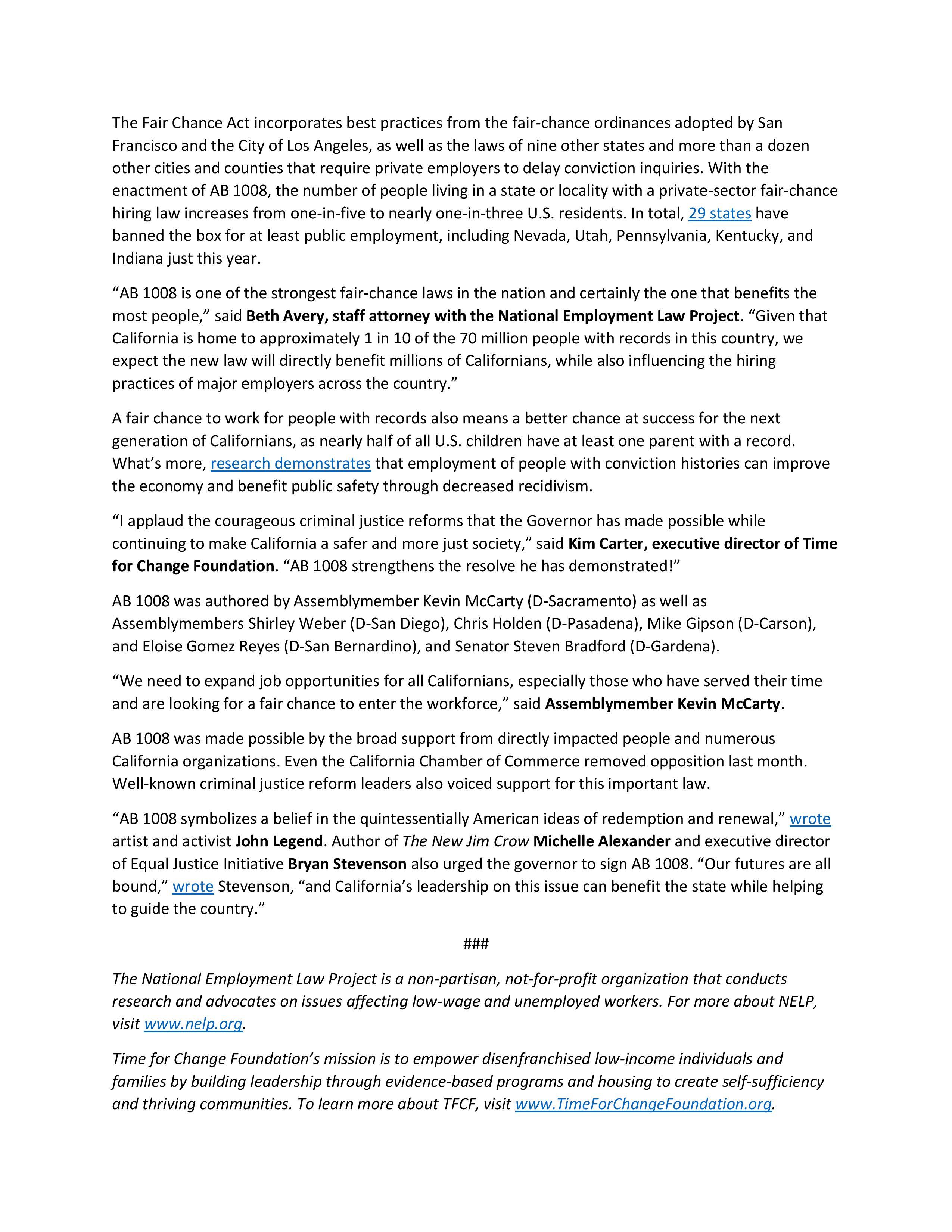 gov. brown signs ab1008 the ban the box / fair chance hiring act