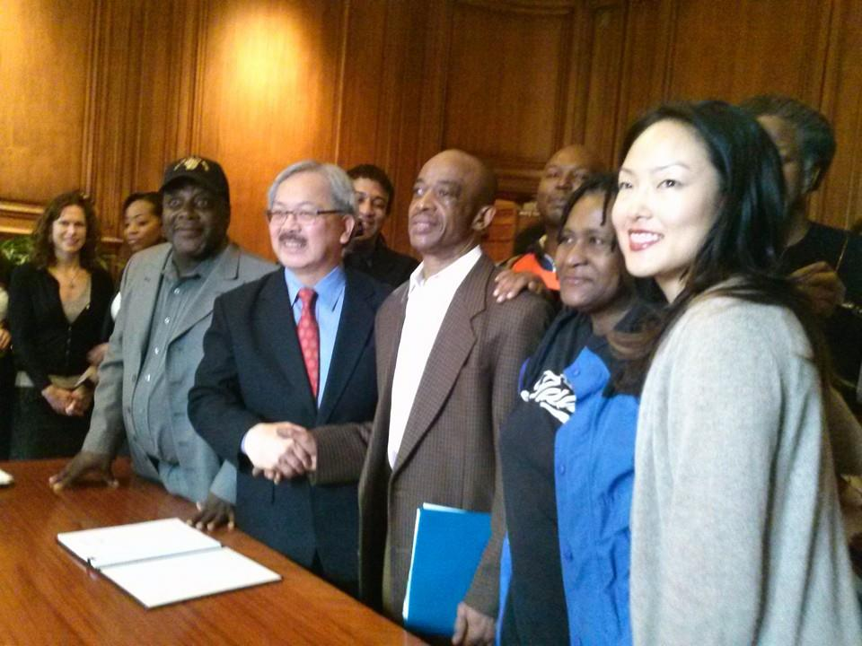 SF Mayor Ed Lee Signing Fair Chance