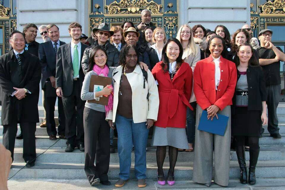 Fair Chance coalition at City Hall steps