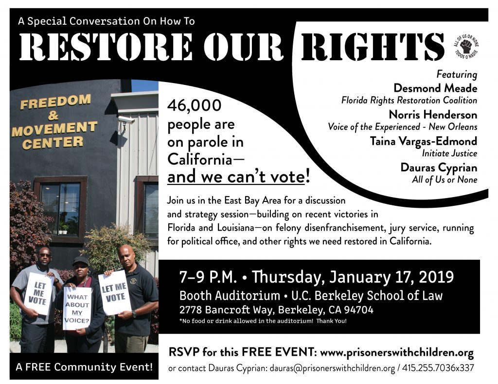 Restore Our Rights - Panel Discussion @ Booth Auditorium